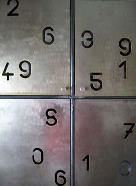 Number furniture, details