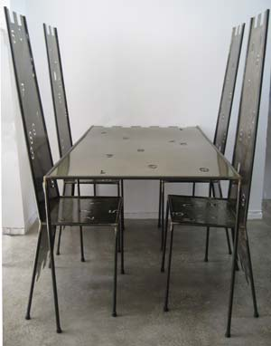 Number furniture, chairs and table